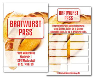 Bratwurst-Bonuskarten