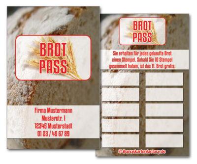 Bäckerei-Bonuskarten
