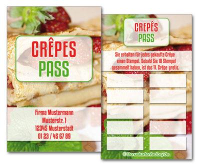 Crêpes-Bonuskarten
