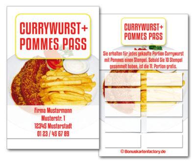 Currywurst-Bonuskarten
