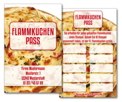 Flammkuchen-Bonuskarten