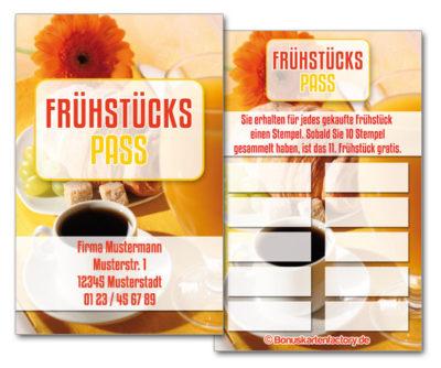 Frühstück-Bonuskarten