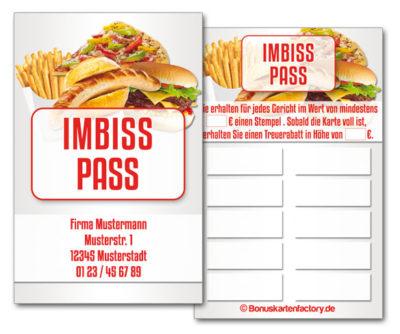Imbiss-Bonuskarten