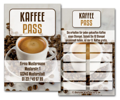 Cafe-Bonuskarten