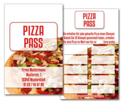 Pizza-Bonuskarten