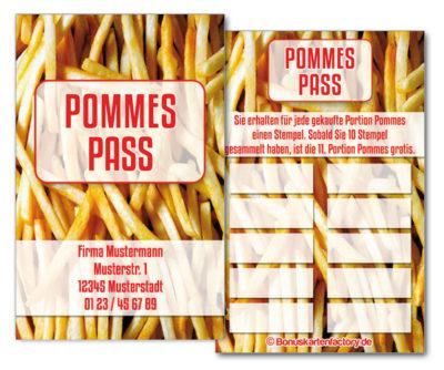 Pommes-Bonuskarten