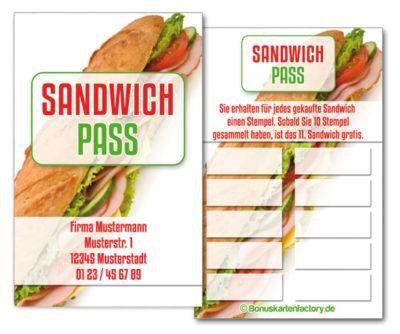 Sandwich-Bonuskarten